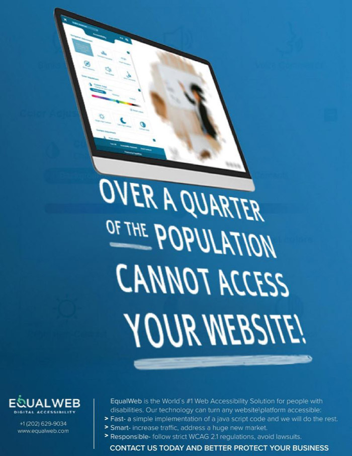 over a quarter of the population cannot access your website
